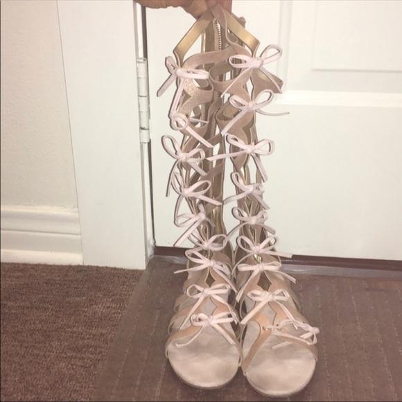 a4da0f53129 Joyfolie Other - Girls joyfolie gladiator sandals pink metallic sz5